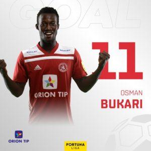 Slavia Prague linked with a summer move for Ghanaian attacker Osman Bukari