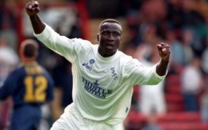 Tony Yeboah throws back to his playing days at Leeds Utd; Thanks fans for support