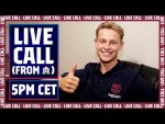 LIVECALL with FRENKIE DE JONG from his home