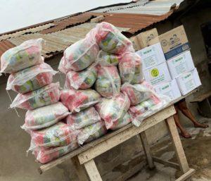 Majeed Ashimeru: Former WAFA star donates sanitizers & food items to Nima-411 community