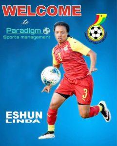 Linda Eshun: Black Queens left-back singed onto Paradigm Sports Management
