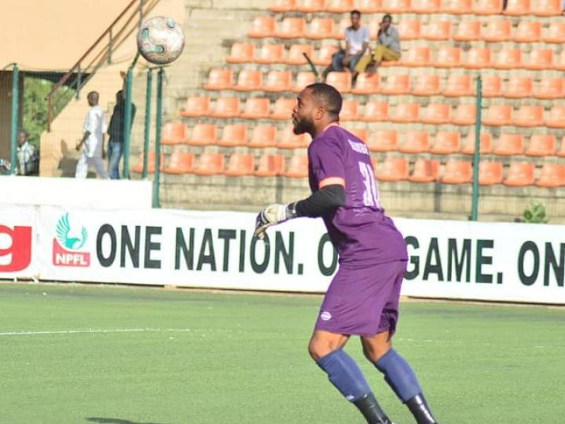 Sad as Abia Warriors goalkeeper Charles Tambe is mugged and shot