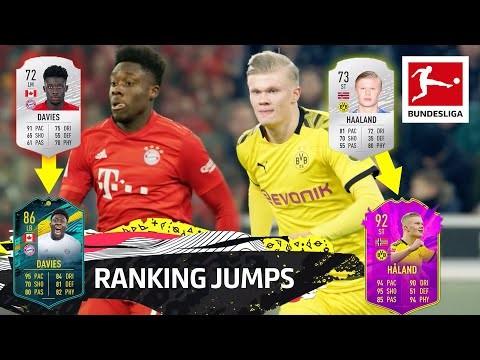 Top 10 Ranking Jumps - Haaland, Davies, Sargent & More | EA SPORTS FIFA 20
