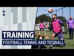 TRAINING IN THE SUNSHINE ☀️FOOTBALL TENNIS & TEQBALL AT HOTSPUR WAY