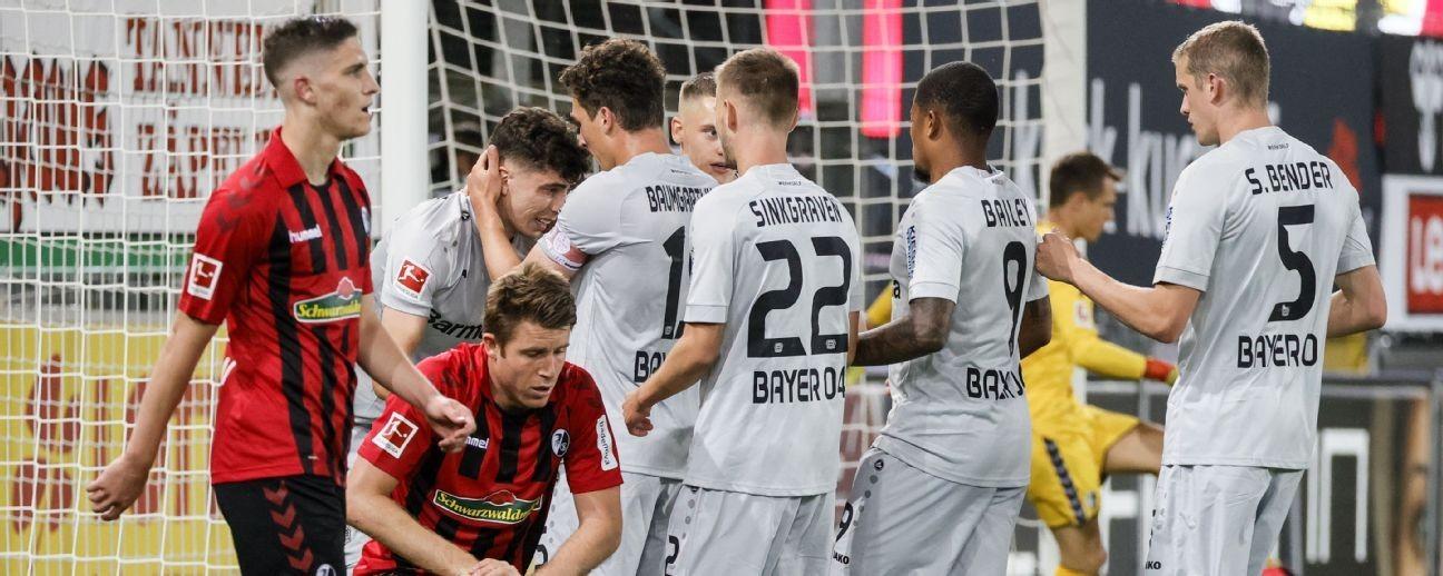 Havertz goal gives Bayer Leverkusen win at Freiburg to go third