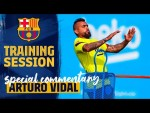 ARTURO VIDAL comments TRAINING SESSION & LALIGA RETURN 👊