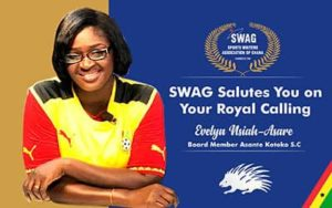SWAG congratulates Evelyn Nsiah Asare on appointment to serve on Kotoko's board