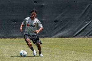 VIDEO: Ghanaian winger Latif Blessing resumes training at Los Angeles FC
