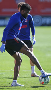 PHOTOS: Thomas Partey trains with Atlético Madrid ahead of league resumption