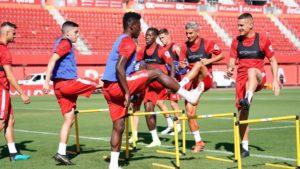Lumor Agbenyenu and Iddrisu Baba train with Mallorca teammates ahead of La Liga return