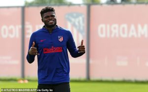 Ghana winger Edwin Gyasi urges Atletico Madrid midfielder Thomas Partey to join Arsenal
