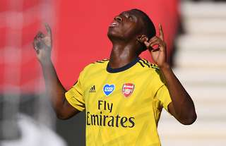 Eddie Nketiah features in Arsenal's FA cup win against Sheffield United