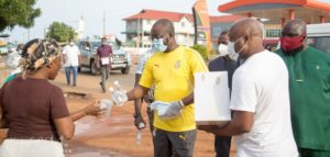 Photos: Kurt Okraku celebrates birthday with distribution of mask, sanitizers