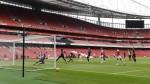 Arsenal thrash Charlton in friendly at empty Emirates Stadium