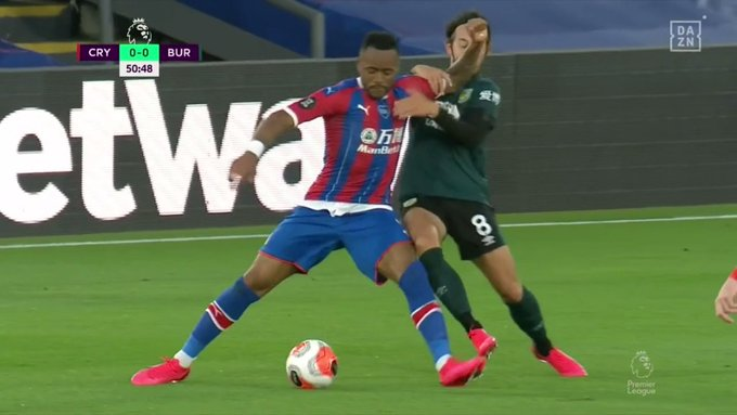 How was Crystal Palace's Jordan Ayew not sent off for this?