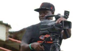 GFA cameramen interacts with Kurt Okraku