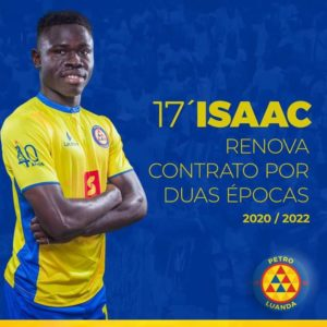 Petro Atletico extend contract of Isaac Mensah for two additional years