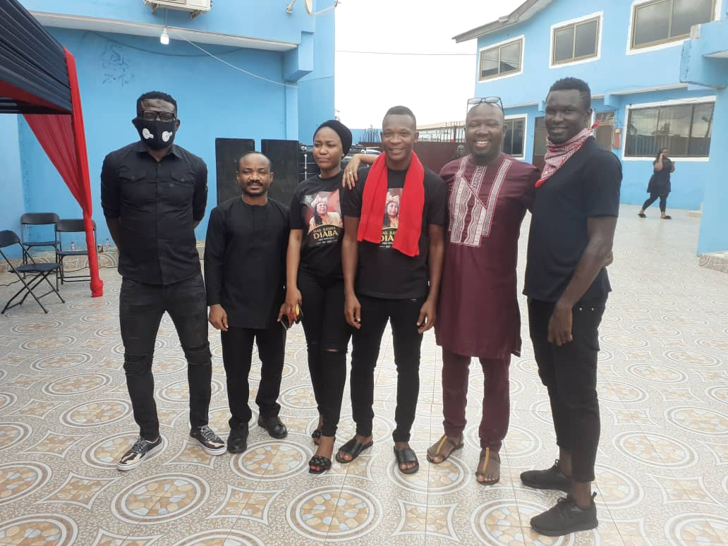 Footballers, administrators, others join John Paintsil to observe late mum's one-week - PICTURES