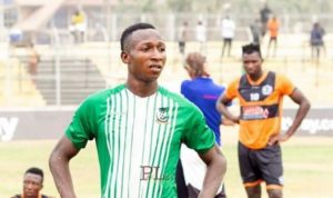Osman Ibrahim determined to win GPL goal king award when season resumes