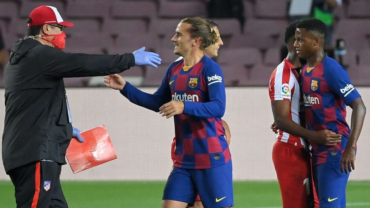 Setien won't apologise to Griezmann for late sub
