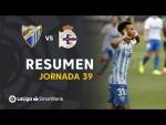 Resumen de Málaga CF vs RC Deportivo (1-0)