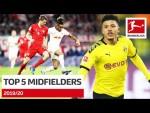 Top 5 Best Midfielders 2019/20 – Müller, Sancho and More