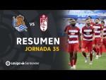 Resumen de Real Sociedad vs Granada CF (2-3)
