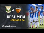 Resumen de CD Leganés vs Valencia CF (1-0)