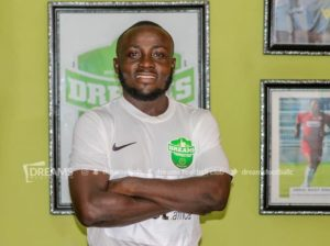Dreams FC striker Abel Manomey unhappy following the cancellation of the 2019/20 GPL season