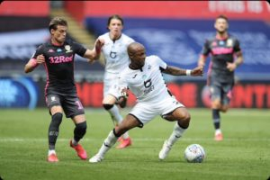 Andre Ayew upset as Swansea lose to Leeds United