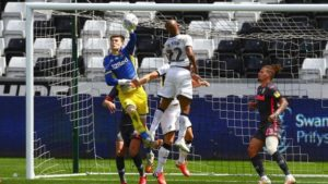 Andre Ayew features for Swansea City in narrow defeat to Leeds United