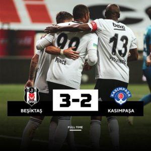 Substitute KP Boateng scores to help Besiktas defeat Kasimpasa 3-2