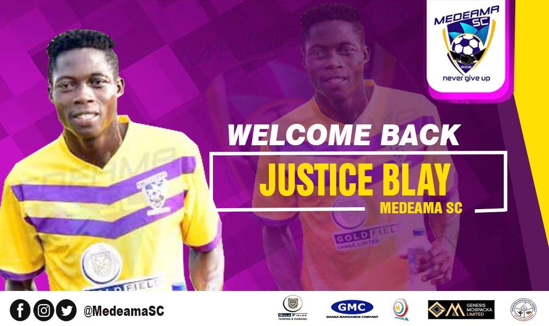 Medeama SC confirm Justice Blay's return from Kotoko loan spell