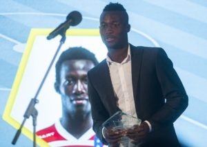 AS Trencin congratulates Osman Bukari for being named in Slovak top-flight 'Team of the Year'