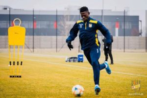 Striker Zuberu Sharani vows to work hard to enjoy more playing time at FC DAC Dunajska Streda