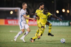 Jonathan Mensah delighted as Columbus Crew thrash FC Cincinnati in MLS is Back Tournament