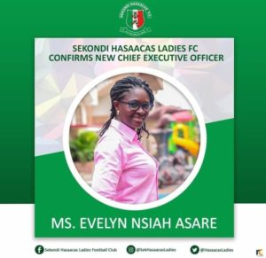 OFFICIAL: WPL outfit Hasaacas Ladies name Evelyn Nsiah as new C.E.O