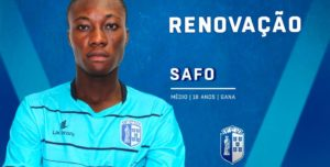 Ghanaian midfielder Safo delighted to sign his first professional contract with FC Vizela