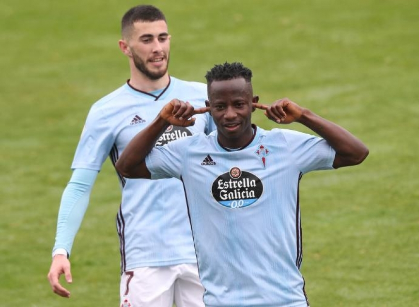 Yaw Yeboah returning to CD Numancia after expiry of his loan deal with Celta Vigo
