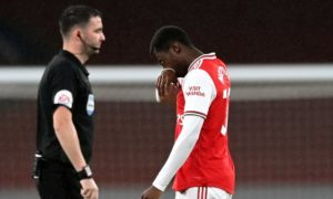 Arsenal boss Mikel Arteta gives his view on Eddie Nketiah's red card against Leicester
