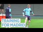 CITY TRAINING TO FACE REAL MADRID IN THE CHAMPIONS LEAGUE!