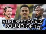 FALK, REGUILÓN, LUKAKU: #UEL BEST GOALS, Round of 16
