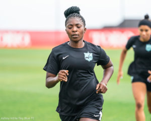 Delighted Jennifer Cudjoe ready to give her all to Sky Blue FC after signing new contract