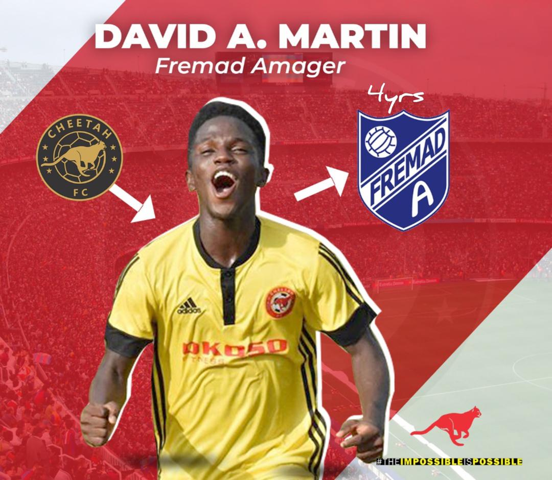 OFFICIAL: Ghanaian teen David Anane Martin joins Danish outfit Fremad Amager