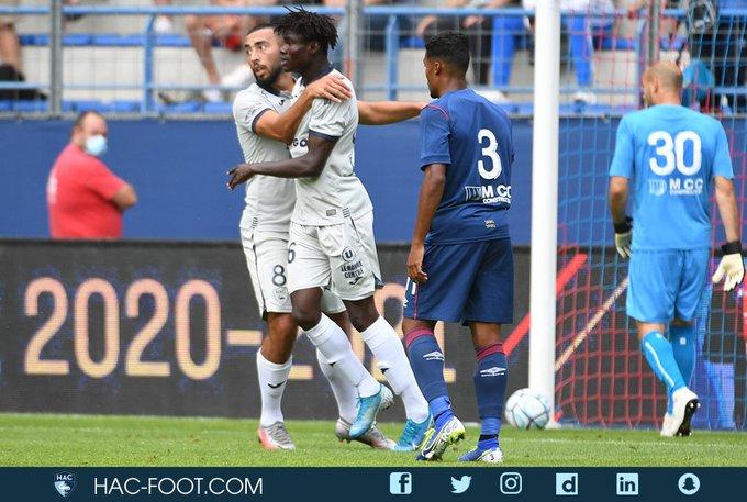 VIDEO: Ghanaian forward Godwin Bentil scores for Le Havre against Stade Malherbe Caen