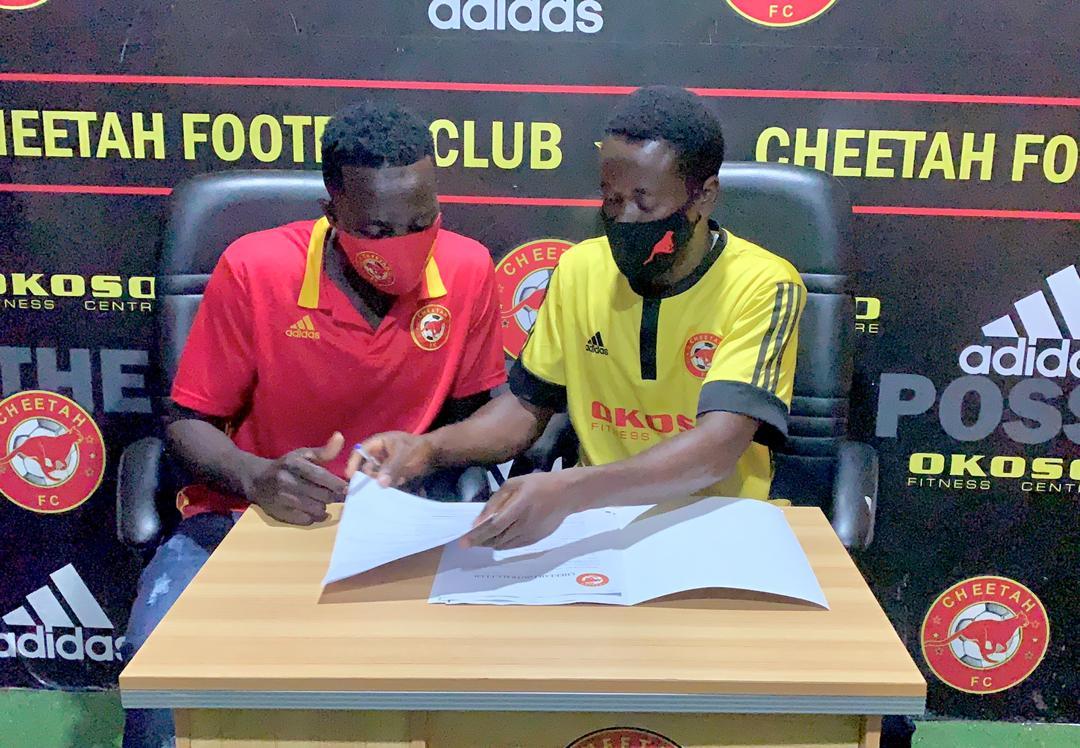 Cheetah FC announce signing of defender Abdulai Slimba