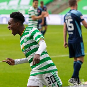 Ghanaian defender Jeremie Frimpong not worried about Rangers as Celtic thrash Hamilton Academical