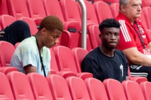 Mohammed Kudus watches from the stands as Ajax thrash RKC Waalwijk