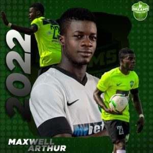 Maxwell Arthur delighted to extend Dreams FC contract