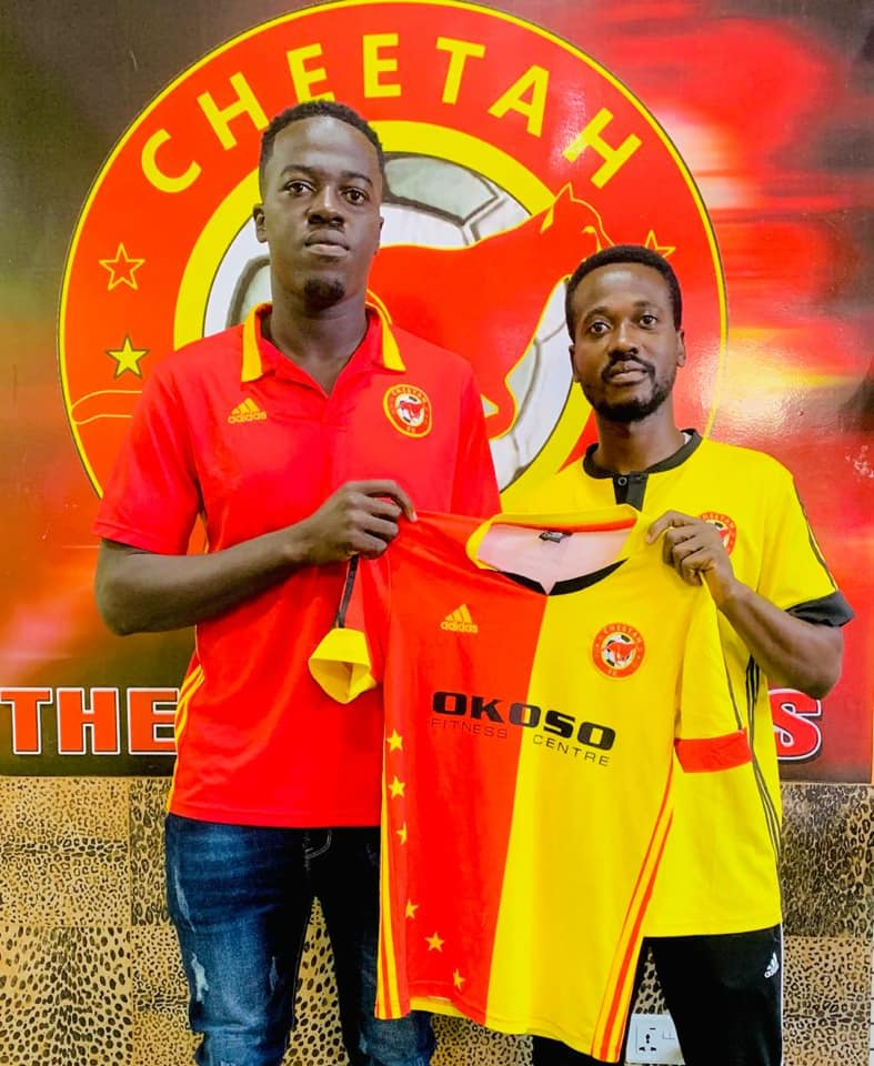 Cheetah FC boss elated with the signing of hardworking defender Abdulai Slimba